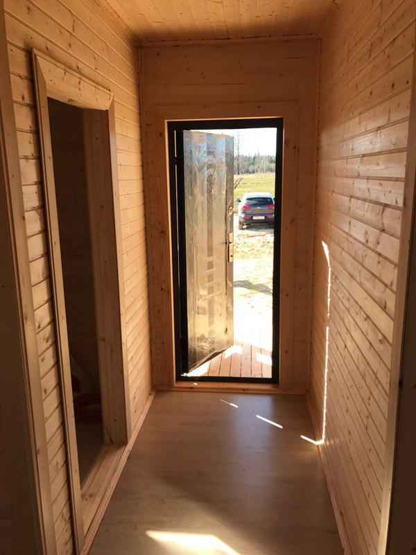 Каркасный Дом под ключ 8.5х9 м проект Эдмонтон 2