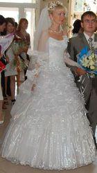 Продам белоснежное шикарное свадебное платье